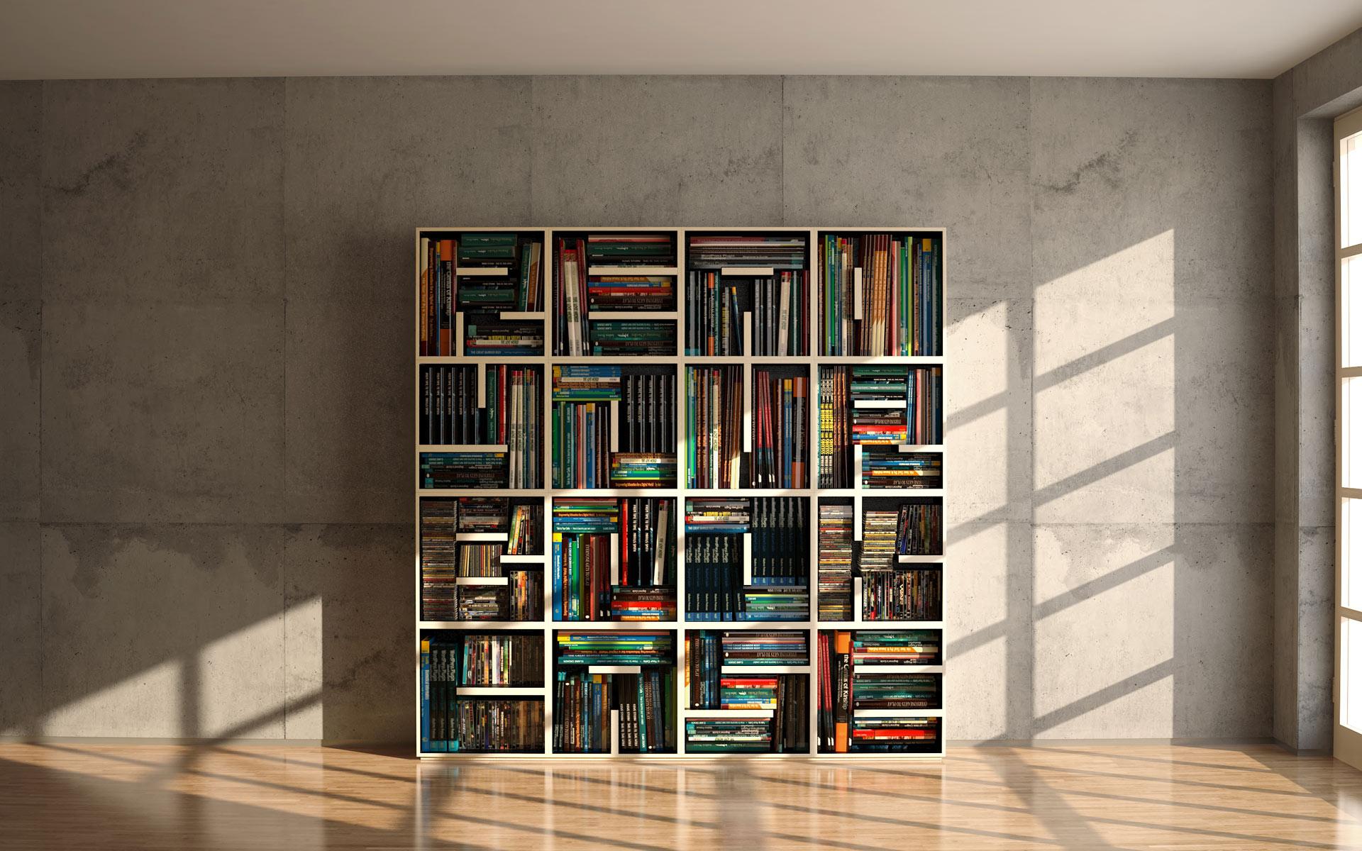 biblioteca casa noua