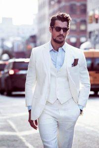 costum alb barbatesc