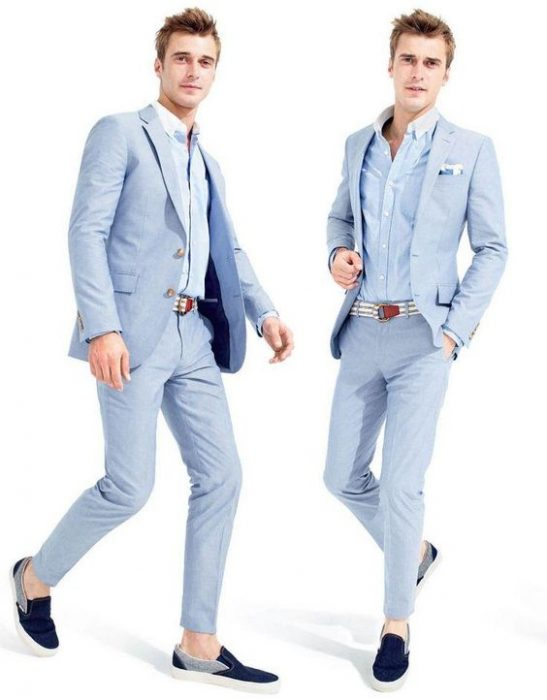costume albastre casual