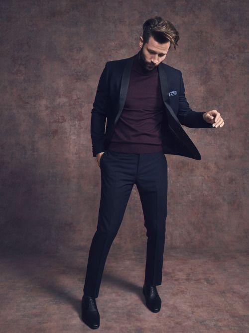 costum black tie