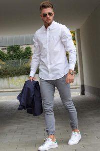 pantofi albi barbatesti