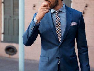 costum american albastru
