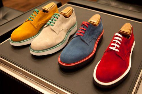 pantofi colorați