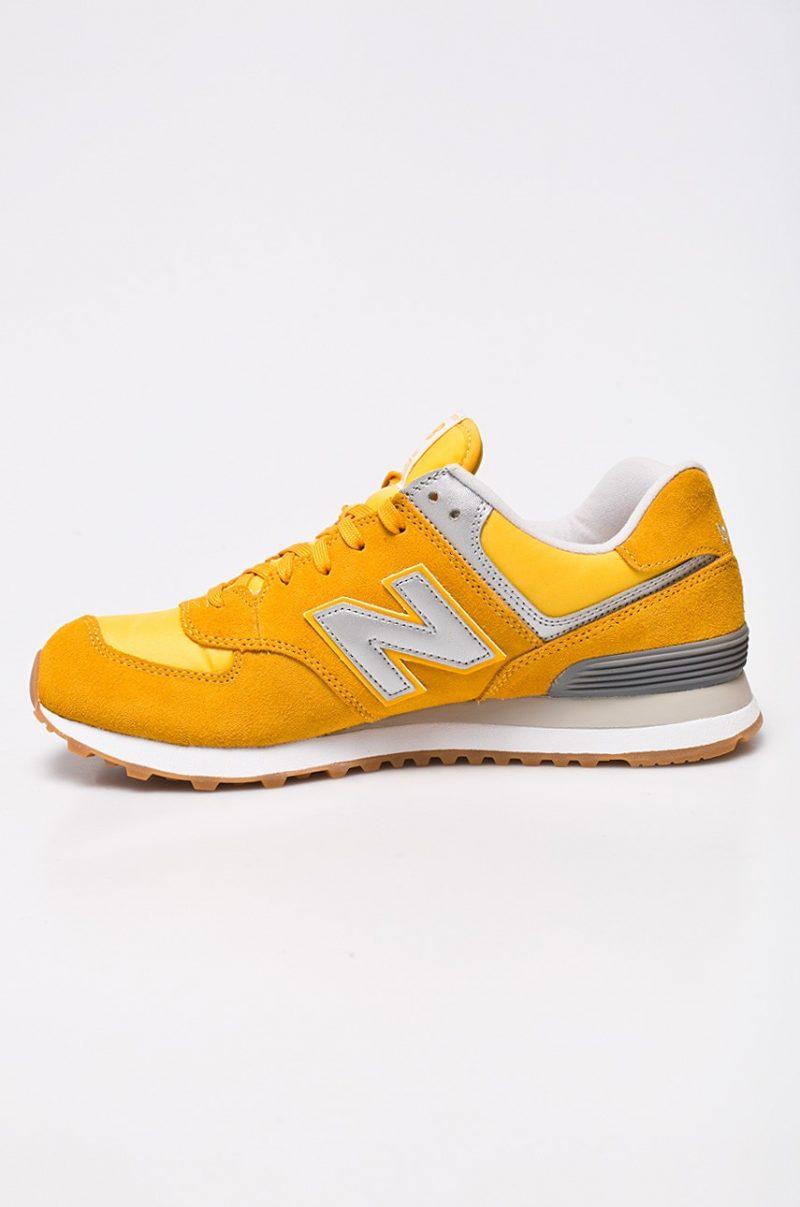 pantofi new balance galbeni